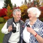 Barb Wall (left), of Australia, and Wanaka's Madge Snow, at the inaugural Anzac Blip meet in...
