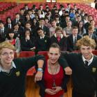 Bayfield High School international fee-paying pupils (from left) Cedric Ingemey (14), of Germany,...