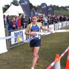 Bayfield High School pupil Anna-Lisa Uttley wins the 16-and-under race at the national cross...