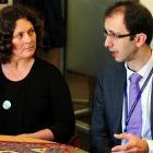 Beat Bowel Cancer Aotearoa chairwoman Dr Sarah Derrett and one of the organisation's medical...