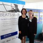 Beats Study research team leader Dr Sandy Mandic (left) and study co-ordinator Ashley Mountfort...