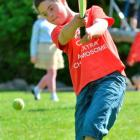Beau Campbell (11), of Dunedin, strikes out during a game of cricket at the Otago Down Syndrome...
