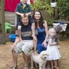 Ben and Rachel Martin with their children, Daniel and Elizabeth, and their dogs, Zeki and Freud,...