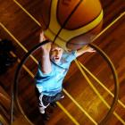 Ben Mackay practises shooting and scoring after his selection for the NZ under-17 Koru team....