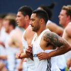 Benji Marshall takes part in a Blues training session at Unitec in Auckland. Photo Getty Images