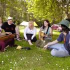 Bernadette Berry (left) enjoys some music with Mike Moroney, Lee O'Brien, Siobhan Moroney and...