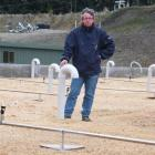 BioFiltro managing director Steve Mace stands on New Zealand's first vermiculture sewerage scheme...