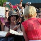 Actress Cate Blanchett walks the red carpet at The Hobbit: An Unexpected Journey' World Premiere...