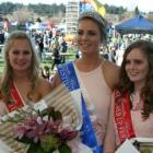Blossom Festival Queen Ella Galletly  and  second runner-up Charlotte Portegys (left), both of...