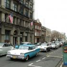 Bond St, Dunedin, where American cars featured in the filming of a Japanese drama in 2009 and...