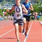 Bryce Morgan wins the 1500m senior boys race, edging out Daniel Boucher at the Otago secondary...