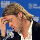Brad Pitt attends a news conference for the film 'Moneyball' at the 36th Toronto International...