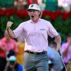 Brandt Snedeker of the U.S. reacts after winning the Tour Championship and the FedExCup. REUTERS...
