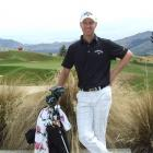 Brendan Jones, of Australia, at The Hills yesterday  in the build-up to the New Zealand PGA...