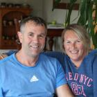 Brian Cowie and partner Jo Parnham at their Invercargill home. Photos by Allison Beckham.