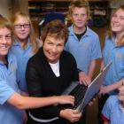 Brighton School pupils (from left) Daniel Wedlock (12) Hannah Greenheld (12) Jacob Sullivan (12)...