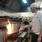 British sous chef Adam Rickett first decided to work on the skifields for a chance to snowboard,...