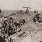 British troops advance during the battle of the Somme, 1916. Photo by Archive Of Modern Conflict...