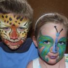 Brother and sister Connor (6) and Adele (4) Watherston, of Christchurch, display their new looks...