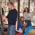 Browns Ski Shop staff (from left) Tom Page, Ania Butler and buyer Fizz Boyd were yesterday busy...