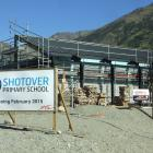 Builders and Shotover Primary School staff have a busy few weeks  ahead as they ready the new...