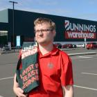 Bunnings Dunedin decorator team member Alax Robinson outside the Dunedin business yesterday....