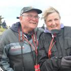 Kevin and Norna Eastwood, of the United Kingdom, during the Burt Munro Challenge 2014 at Oreti...