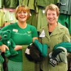 Butterflies - The Hospice Shop will be all decked out in green, as demonstrated by shop...