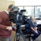 Cameraman Scott Mouat films Oamaru Hospital Emergency Department registered nurse Robyn Keno for...