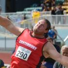 Cantabrian Tom Walsh shows the form that won him the senior men's shot put title at the national...