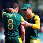 Captain AB de Villiers (R) and fast bowler Dale Steyn are two key men for South Africa as they...
