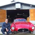 Rod Tempero with the replica Maserati car he built in an old poultry shed near Oamaru. Photo by...