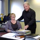 Career practitioner Anne Potter and Otago Chamber of Commerce succession planner Warren Taylor...