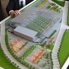 A new 1:300 scale model of the Awatea St stadium, looking from the east, or harbour end. The east...