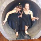 Caroline (left) and Nadia Maxwell are preparing for the opening of Cats in Oamaru next month....