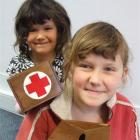 Cassidhe (5) and Madeleine (9) Harrop are hoping an appeal in North Otago, raising money for Red...