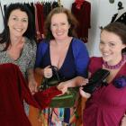 Cast members Barbara Power (left) and Nadya Shaw Bennett (right) with director Lara Macgregor at...