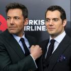 """Cast members Ben Affleck (L) and Henry Cavill attend the New York premiere of """"Batman V Superman:..."""