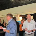 Catch-up . . .People attending Irrigation New Zealand's Great Irrigation Challenge in Ashburton...