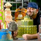 Celebrity chef Duff Goldman with a selection of his handiwork. Supplied photo.