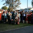 Central Otago Mayor Tony Lepper (centre left) and Central Otago town crier Paddy-Ann Pemberton ...