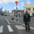 Chalmers Community Board chairman Steve Walker on one of the two pedestrian crossings in George...