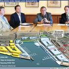 Chamber of Commerce president Mark Willis, chamber chief executive John Christie, Dunedin city...