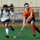 Charles Hadfield (Christs College) controls the ball during the Rankin Cup national secondary...