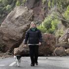 Charlie Hudson walks her dog along Heberden Ave in Sumner. Assoc Prof Annie Potts, co-director of...
