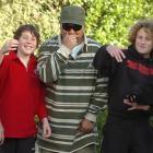 Recording artist Che Fu (centre) with Fairfield School pupils (from left) Corey Donaldson,...