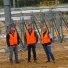 Checking out progress on the Southern Field Days Event Centre are  (from left) committee chairman...