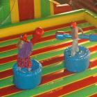 Children at the Cadbury kids' holiday programme last week prepare to joust.