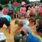 Children hunt for prizes in the Big Dig at the Tokomairiro A&P Show at Milton on Saturday. Photos...