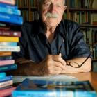 Childrens writer Jack Lasenby at home in Wellington. Photo by NZPA.
